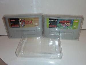 2-x-snes-super-nintendo-game-cart-cartridge-protector-4-thick-sample-pack