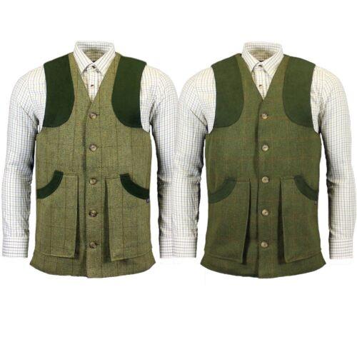 Mens Game Ashford Tweed Gilet Quilted Shooting Hunting Vest Waistcoat Bodywarmer