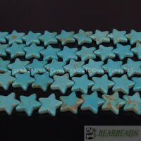 Blue Howlite Turquoise Gemstone 20mm Star Loose Spacer Beads 15.5 Inches Strand