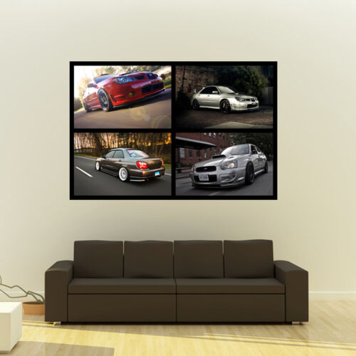 Poster of Subaru Impreza WRX STi Giant HD Collage Huge 54x36 Inch Print 137x91cm