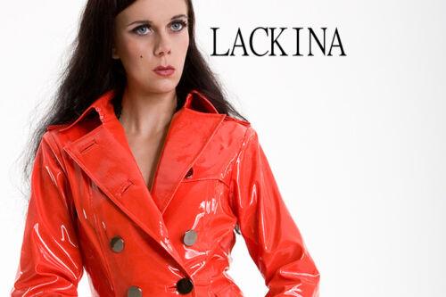Lackina 4 S Patent red Size Xl Black Coat white rZxrqYvw0S