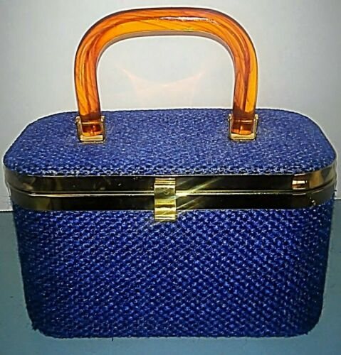 50's JR JULIUS RESNICK Florida Blue Woven Box Purs
