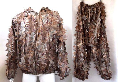 3D Red BANSHEETM Leaf Python Camouflage Fast Dry Ghillie Suit Jacket+Pants