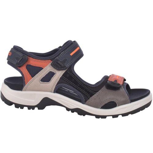 Ecco Mens Offroad Yucatan Casual Walking Trail Sandals Shoes Navy//Orange