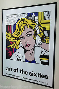 ROY LICHTENSTEIN: ART OF THE SIXTIES 1979 Silkscreen Exhibition ...