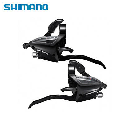 SHIMANO MTB Brake Shifter Set Brake Levers/&Shift Levers EF500-7 3x7S Black