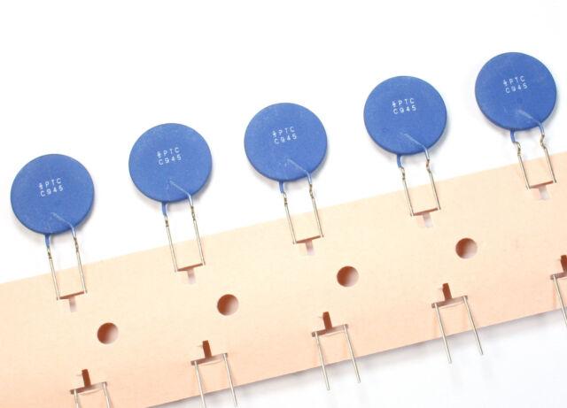 Siemens 0.45 Ohm PTC thermistor 5mm pitch 12V 160C C945 B59945C160A70 LOT-5pcs