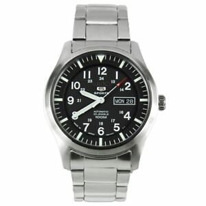 Seiko-Analog-Business-5-Sports-Silver-Mens-SNZG13J1