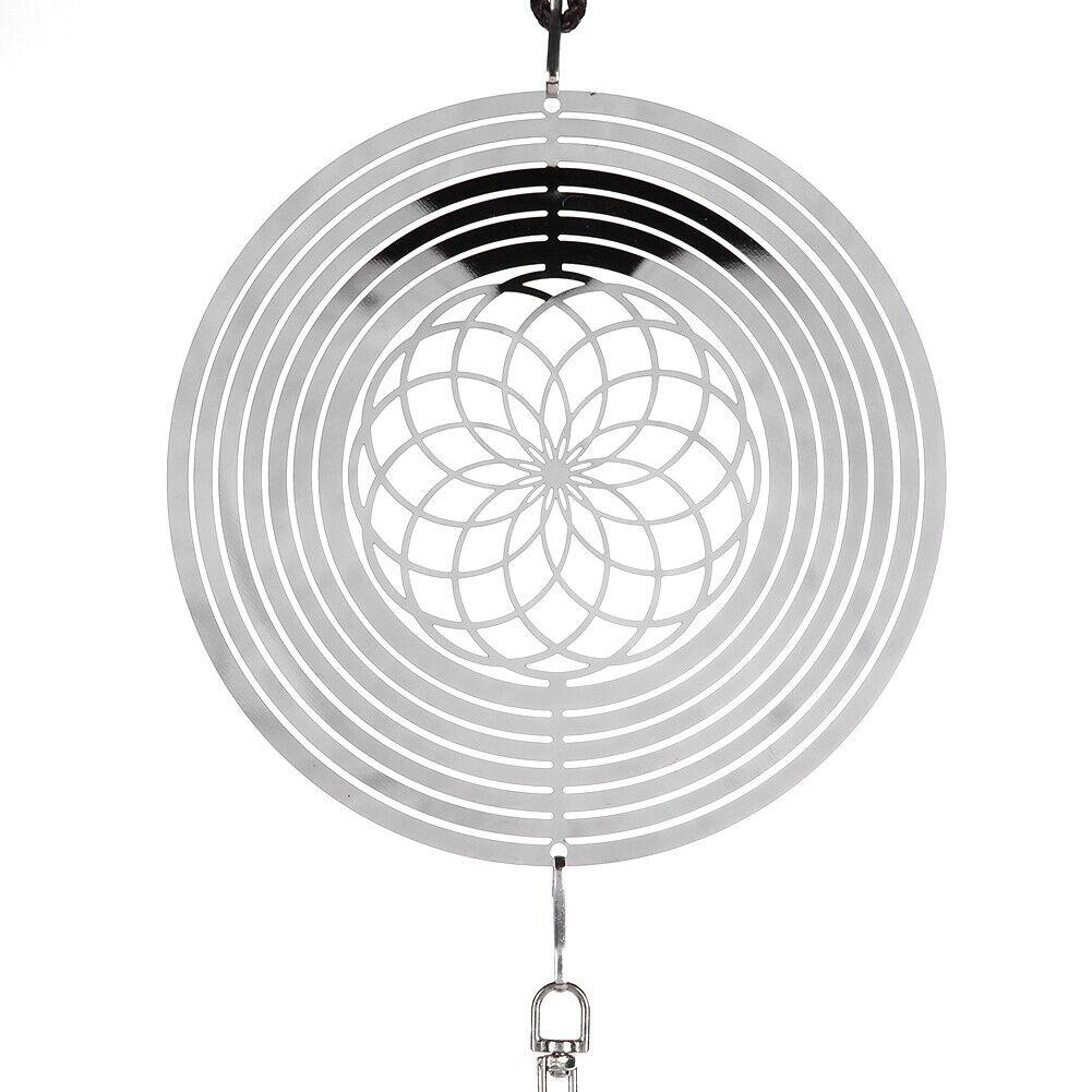 Cute Wind Chimes, Metal Music Spiral Ball Wind Indoor Outdoor GF