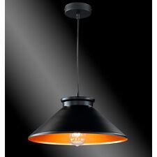 Design Hängelampe Industrielampe Hängeleuchte Deckenleuchte Lampe Schwarz Gold