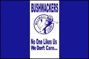 Men S Ladies T Shirt Retro Football Casuals Millwall Bushwackers