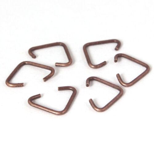 cobre para el bricolaje para joyas nuevo triángulo 9 x 7 mm biegeringe triángulo Ojetes