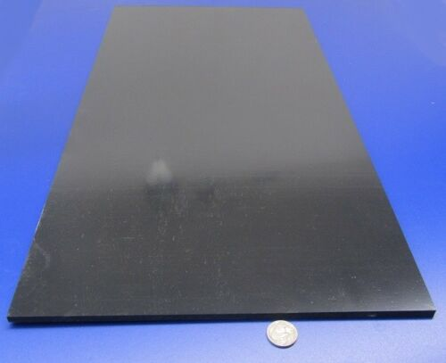 """ABS Sheet  Smooth on Both Sides 1//4/"""" Color Black .250/"""" x 12/"""" x 24/"""""""