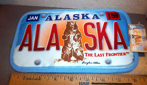 Alaska-Decorative-Hot-Pad-Pot-Holder-New-style-Kodiak-Bear-License-plate-design