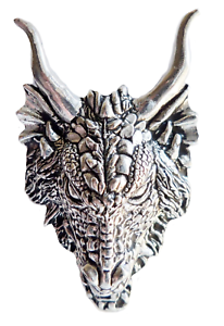 dragon head chunky pewter pin badge hand made in cornwall ebay
