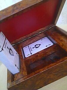 Artisanat D'art :boîte Pour Deux Jeux De Cartes - Bois - Superbe Travail