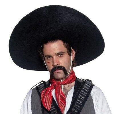 Mens Deluxe Gunslinger Gunman Cowboy Hat Fancy Dress New by Smiffys
