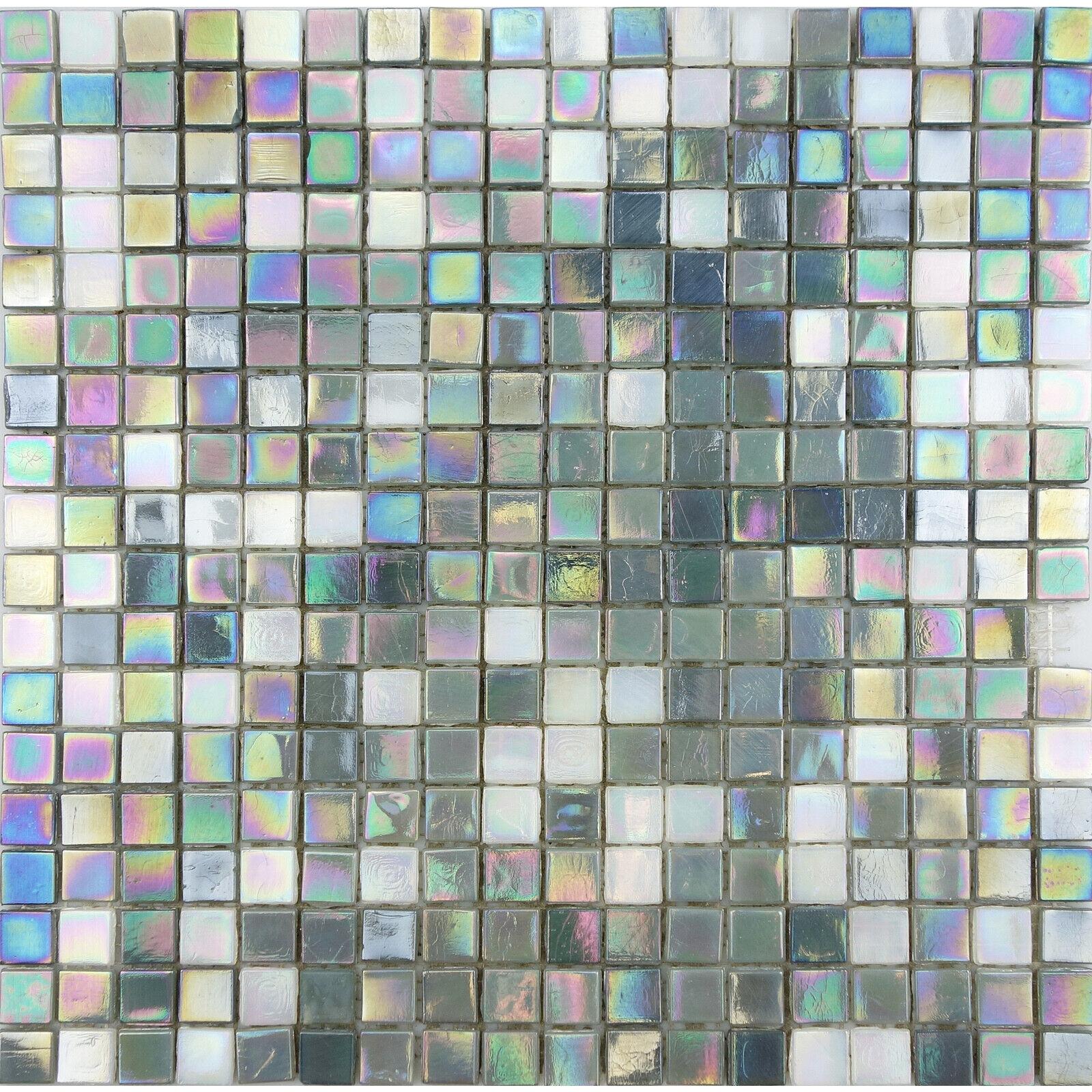 Sweet Purple Iridescent Glass Tile Mosaic Tiles Kitchen Backsplash Bath Pool For Sale Online Ebay