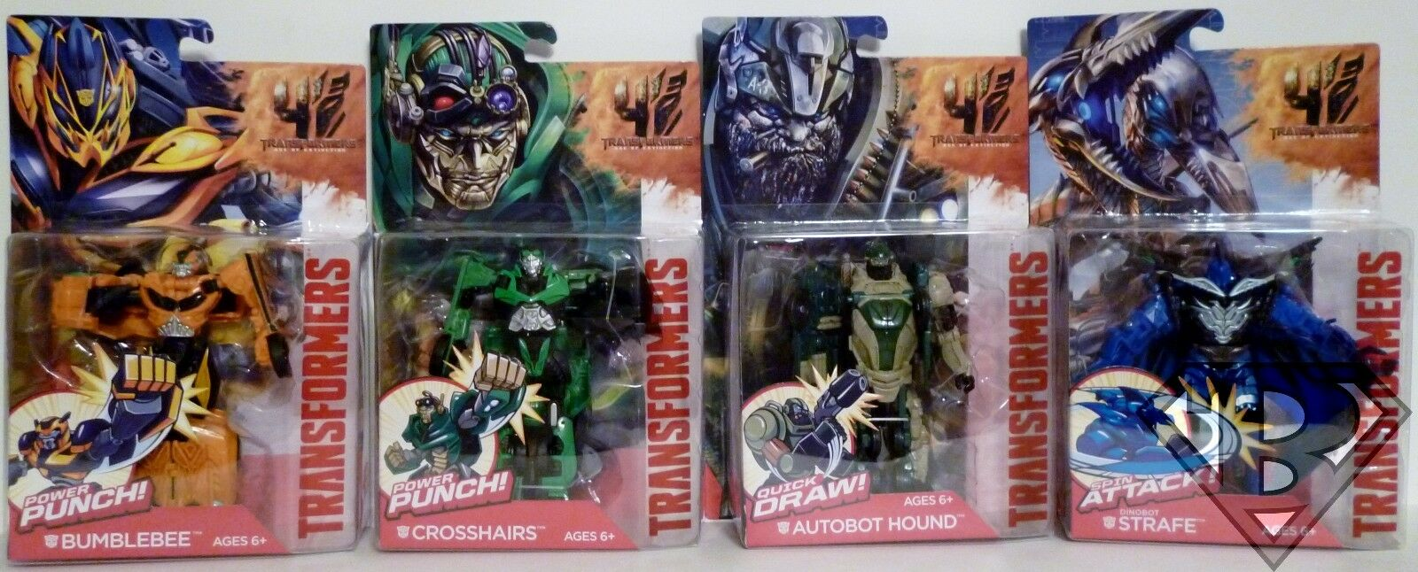Transformers 4 Age of Extinction Power Battlers 5  inch Figures Set of 4 2014
