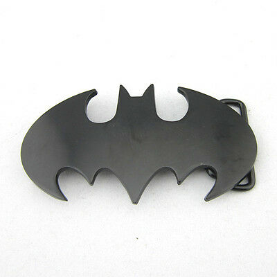 Western New Superhero Batman Cowboy mens Metal belt buckle Leather Costume Gift