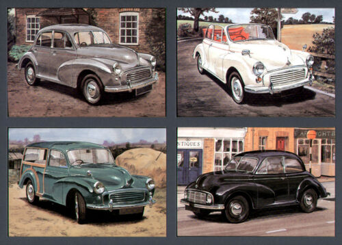 MORRIS MINOR MM 1000 Convertible Traveller /& Series II Set of 4 Postcards