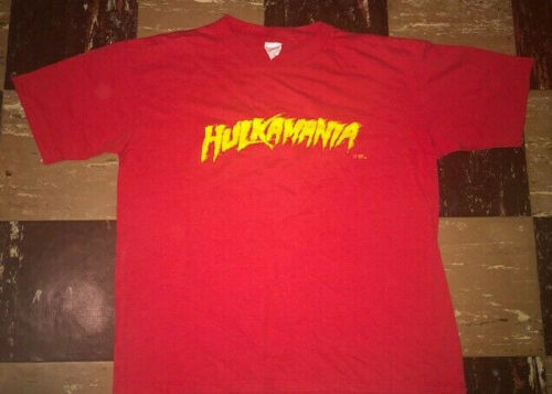 AUTHENTIC Vtg 1980s WWF Hulkamania Hulk Hogan T SH