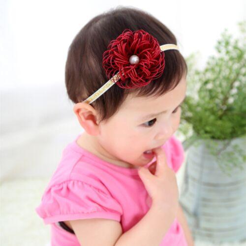 Baby Girls Bow Floral Crown Headband Alice Hair band Head Elastic Cute Kids