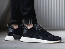114130c19 Adidas NMD C2 Suede Size 10.5 BY3011 Core Black Gum Shoes Sneakers NEW  NMD R1