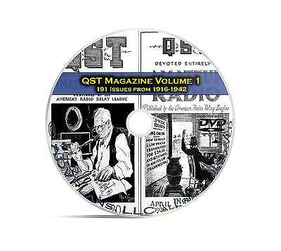 QST Magazine, Volume 1, 191 Classic Old Time Amateur Ham Radio OTR DVD CD C05