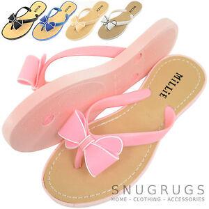 Sandalia Millie Mujer chanclas Lazo zapatos playa Vacaciones Verano XwqTxqtA7U