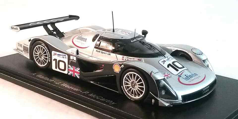 Audi R8C No.10  Le Mans 1999 in 1 43 Scale by Spark