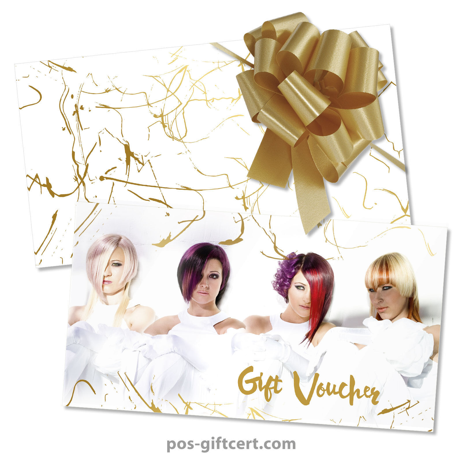 Poison vouchers + enveloppes + Pull Bows For Hair Salons, Hairdressers k299gb