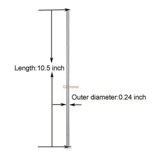 """environ 26.67 cm //9.5/""""//8.5/"""" 100PCS vente en gros en acier inoxydable Pailles métal paille 10.5 in"""