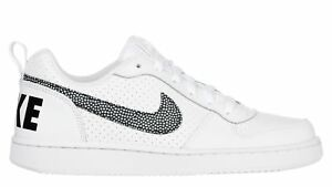 NIKE-COURT-BOROUGH-GS-scarpe-donna-sneakers-basse-running-sportive-pelle-bianche