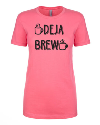 DEJA BREW Coffee Lover Latte Mocha Macchiato Grande Women/'s Fitted T-Shirt