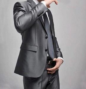Formal Pant Blazer Suit Wedding Mens Set Jacket button Fit Two Slim Tie Business zrCzwxq7R