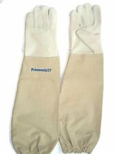 Primeonly27 Goat Skin Leather Gloves With Canvas Cuff Small