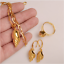 Traditional-Papua-New-Guinea-PNG-Creole-Necklace-Earrings-Ring-Shell-Snail-Set thumbnail 2