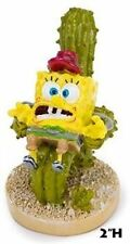 Spongebob Sitting on Cactus Chair Aquarium Ornament - 2 in - SBR51 - Penn Plax