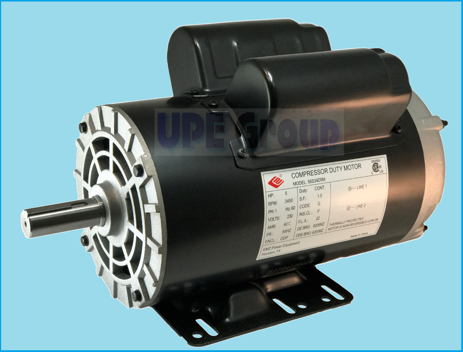 5 Hp Compressor Duty Electric Motor 1 Phase 3450 Rpm 56 Frame 7 8 Wire Diagram For Ph Norton Secured Powered By Verisign