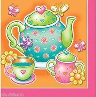 PACK OF 16 PLAIN BEVERAGE NAPKINS TEA PARTY BIRTHDAY SUPPLIES