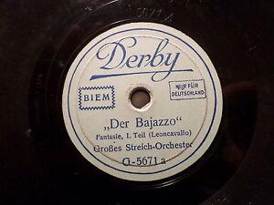 STREICH-ORCHESTER-034-Der-Bajazzo-Fantasie-Leoncavallo-034-78rpm-20cm-Derby-1930