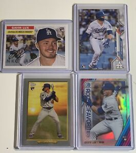 GAVIN-LUX-ROOKIE-CARD-LOT-Topps-Topps-Choice-Turkey-Red-Bowman-ROTY-Favorites