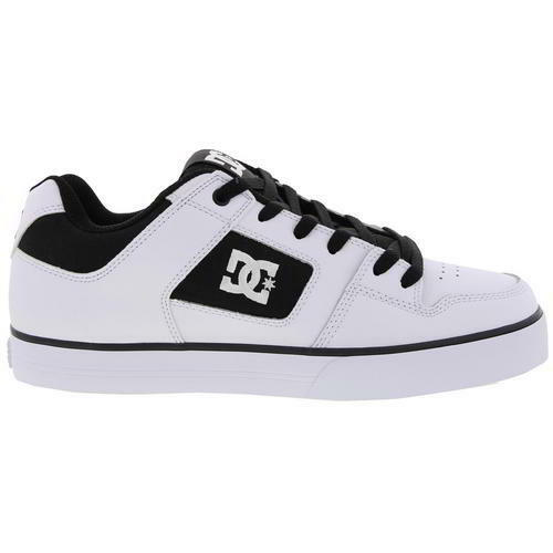 DC Pure Mens Black White Shoes Black Leather Skate Shoes White Trainers Size 8-13 bccaae