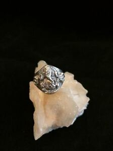 925-Sterling-Silver-Ganesh-Ring-Artisan-Size-6-5-Ganesha-Hindu-Buddhist-Dorje