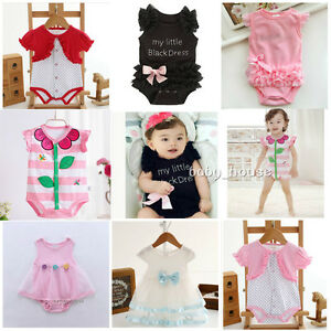 246105457bdb 1pc baby clothes girls summer cotton bodysuit infant newborn jumpers ...