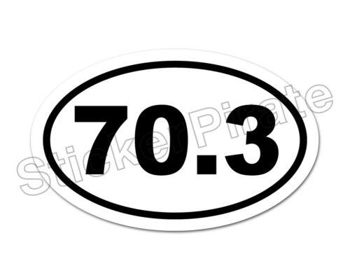 * Oval Euro Car Magnet 70.3 Marathon Distance Runner Magnetic Bumper Sticker