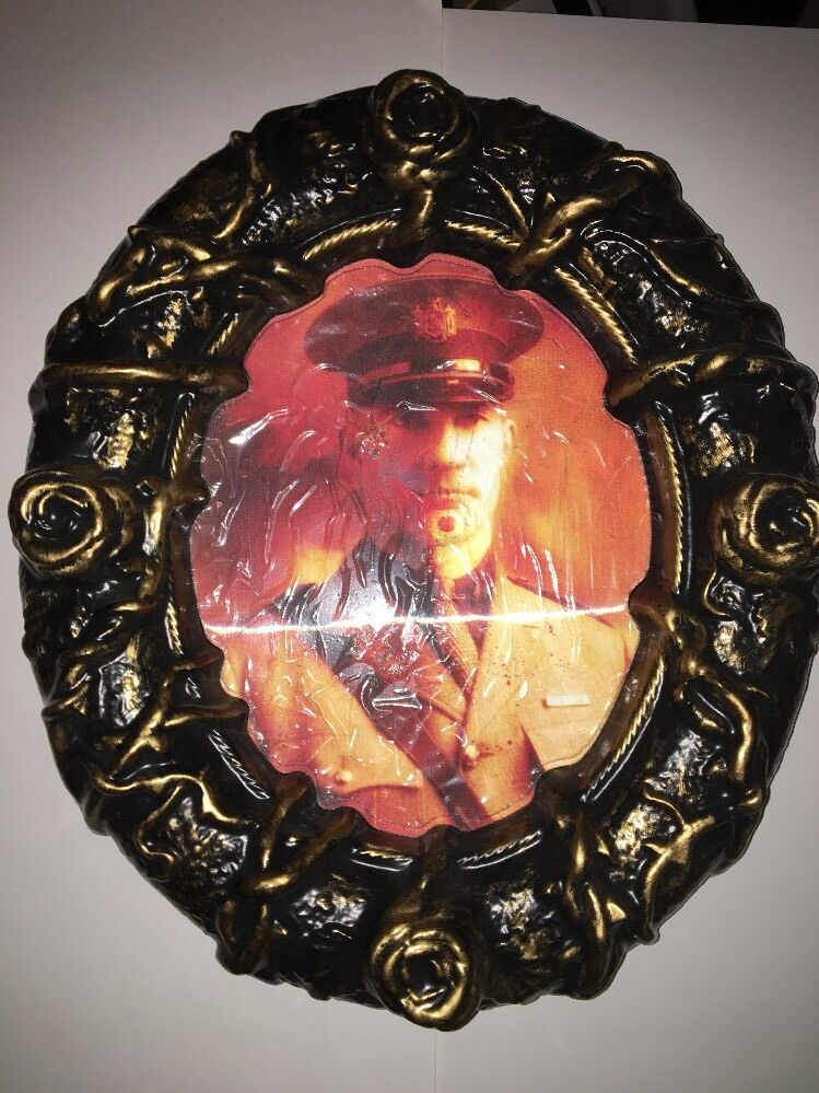 Holographic Wall Hanging Picture Of Of Soldier Who Turns To Clown Approx 12  X 14