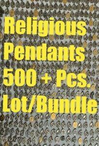 Vintage-Santos-Colgantes-Liturgico-Cruz-Medallas-Mezclado-500-Piezas-Lote