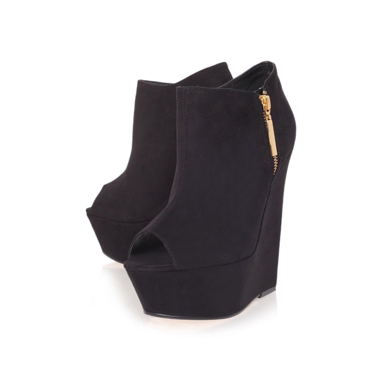 Carvela bottes noires... Wedge... bottes... UK 6 EU 39 fermeture de vente